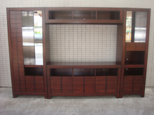 Hot Selling Transitional Wooden Wall Unit Entertainment Center in Walnut finish for Northern American Market