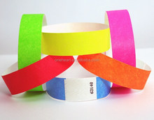 Promotional Cheap Disposable Waterproof Different Colors Tyvek Wristband for Events