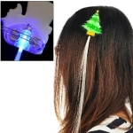 Christmas Tree Blue Color Luminous Pigtail Hair Clips LED Light Fiber for Christmas Activities