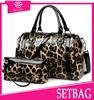 2015 new arrival latest fashion elegant two pc leopard purse and handbag luxury designer handbag durable set bag in China
