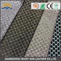 glitter mesh leather for wall decoration