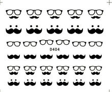 Moustache Nail Art Stickers Decals Water Transfers False Natural