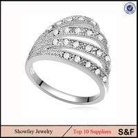 Charm Big Statement Jewelry Wholesale China Jewelry Fashion Crystal Ring