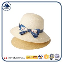 Girls popular straw hat with bowknot