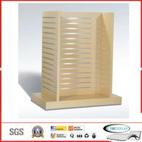 Wooden display rack - slatwall display rack