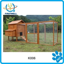 Big size wooden chicken house / coop with a large run