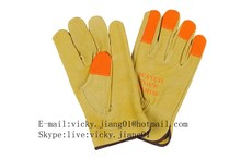 Popular pig grain leather driver gloves