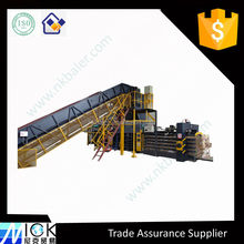 Higher volume plastic film and PET Bottle bale press and hydraulic packing machine