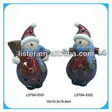 Antique pottery snowman enamel crafts