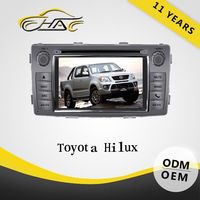 For toyota hilux navigation radio 2din dvd player support bluetooth hands free call