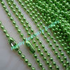 2.4mm Apple Green Colored Metal Ball Chain Necklace