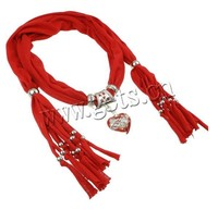 Gets.com 2015 red polyester cotton scarf
