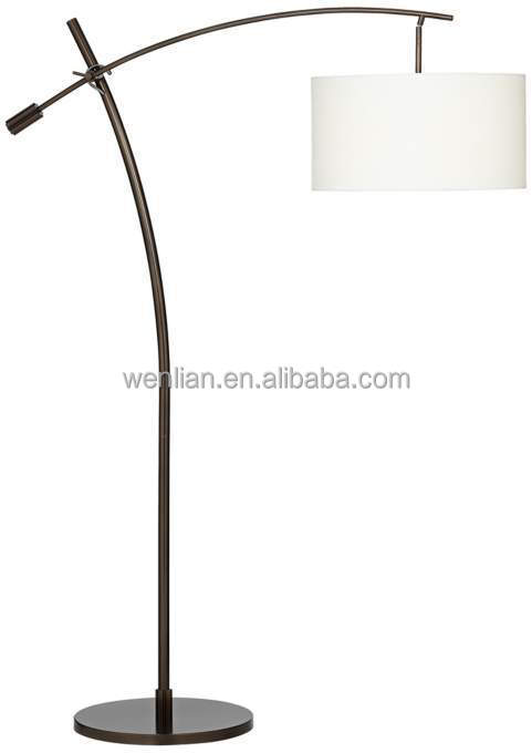 Bronze boom arc floor lampeuropean floor lamps with linen shade v2695views1g aloadofball Image collections