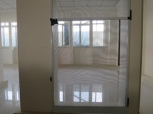 Aluminum screen frame door with fiberglass of white and brown