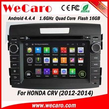 Wecaro android 4.4.4 car navigation system capacitive for honda crv car dvd player bluetooth 2012 2013 2014