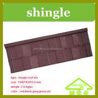 colour aluminium zinc stone coated metal roofing sheet