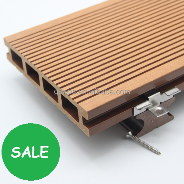 Plastic planks texture wood wpc decking prices wood for Composite decking sale