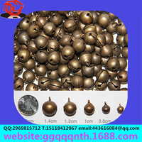 Manufacturers wholesale 12mm copper casting pure ward off bad luck bell Dogs cats pets metal ball copper antique brass bell