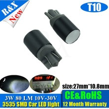 Factory sale good price car led light lamp t10 3535smd 3w led bulb 80lm led lamp for cars high quality no defective