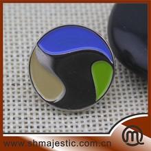 round metal lapel pins, color painted custom lapel pins