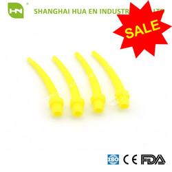 Intra Oral Dental Impression Mixing Tips Intraoral Tips Yellow 100pcs/bag