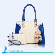 2015 Fashion PU leather handbag factory Cheap price Hand Bag