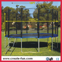 CreateFun New Promotion Trampoline Bed 16Inch, Spring Trampoline Bed, High Jump Trampoline Bed