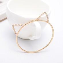 Cute Animal Gold Jewellery Cat Ear 22k Gold Bangles