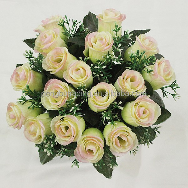 Cheap Price Wholesale Artificial Silk Flower Bouquet Wedding