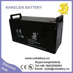 free maintenance deep cycle 120ah 12v battery, sealed type batery