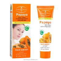 Papaya facial cleanser Soft Clean Exfoliating cream peeling gel face care body creams