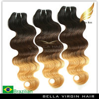 Double Drawn 5A grade 100% human hair Ombre braiding hair weft On Sale