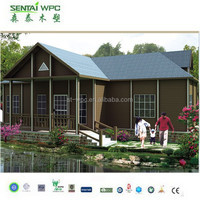 good quality wood plastic low cost modern prefab house