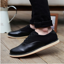 HFR-TS138 2015 New England men cheap suede soft leather lace stitching fashion shoes