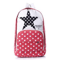 five-pointed star women's handbag canvas bag backpack