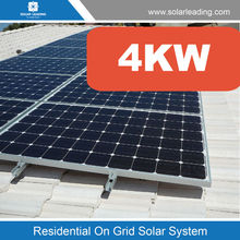 New design 4kw complete home solar power system include panel photovoltaic for Panama market