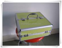 Antique cosmetic rolling case aluminum box RZ-SC-171
