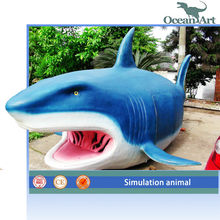 Realistic animatronic shark for amusement park animal products
