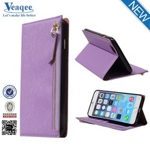Veaqee wallet flip pu leather phone case for iphone 6