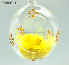 factory supplier wholesale clear open glass ball ornament