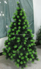 210 cm dense flower pine needle christmas tree ,gold color christmas tree