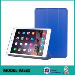 Hot selling pu Leather case For ipad mini 4 smart shell