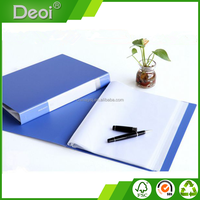 Factory Wholesale Custome Promotional Office PP/PVC Plastic File Folder A4 Blue 100 Pocket Display Book