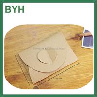hot & popular heart shape paper envelope Kraft paper envelope ,wallet kraft envelope