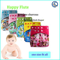 HappyFlute bamboo charcoal no insert cloth diaper 10 pcs freeshipping