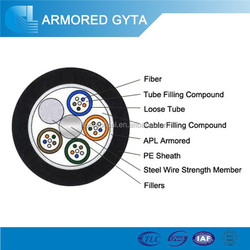 Outdoor 24 core single mode aerial/ duct type fiber optic cable GYTA