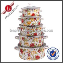 The Hot Food Pot 5pcs Full Design Enamel Casseroles