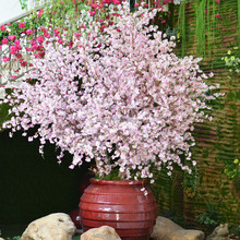 27044T artificial flowers and silk pink and white cherry blossom branches wholesale in GUANGDONG CHINA