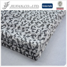 Jiufan Textile 2015 Hot Selling Polyester Hacci Jacquard Knit Fabric For Garment Sweater