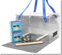 OEM/OPDM Custom square Acrylic Bird cage sale/square clear plexiglass pet birds container/ perspex birds carrier